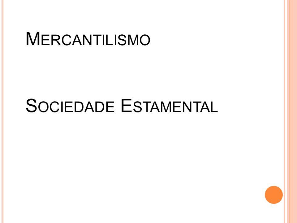 Absolutismo Mercantilismo Sociedade Estamental