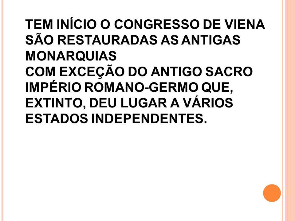 1815: NAPOLEÃO É DERROTADO.