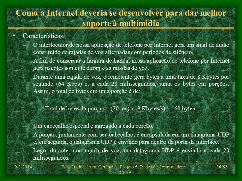 Como a Internet deveria se desenvolver para dar melhor suporte à multimídia