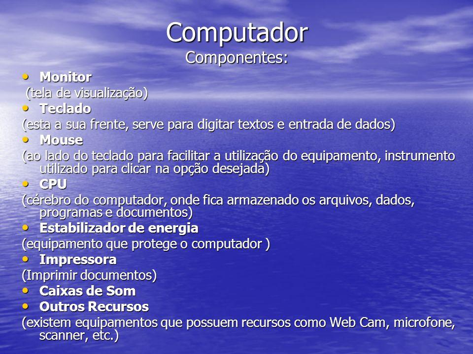 Computador Componentes: