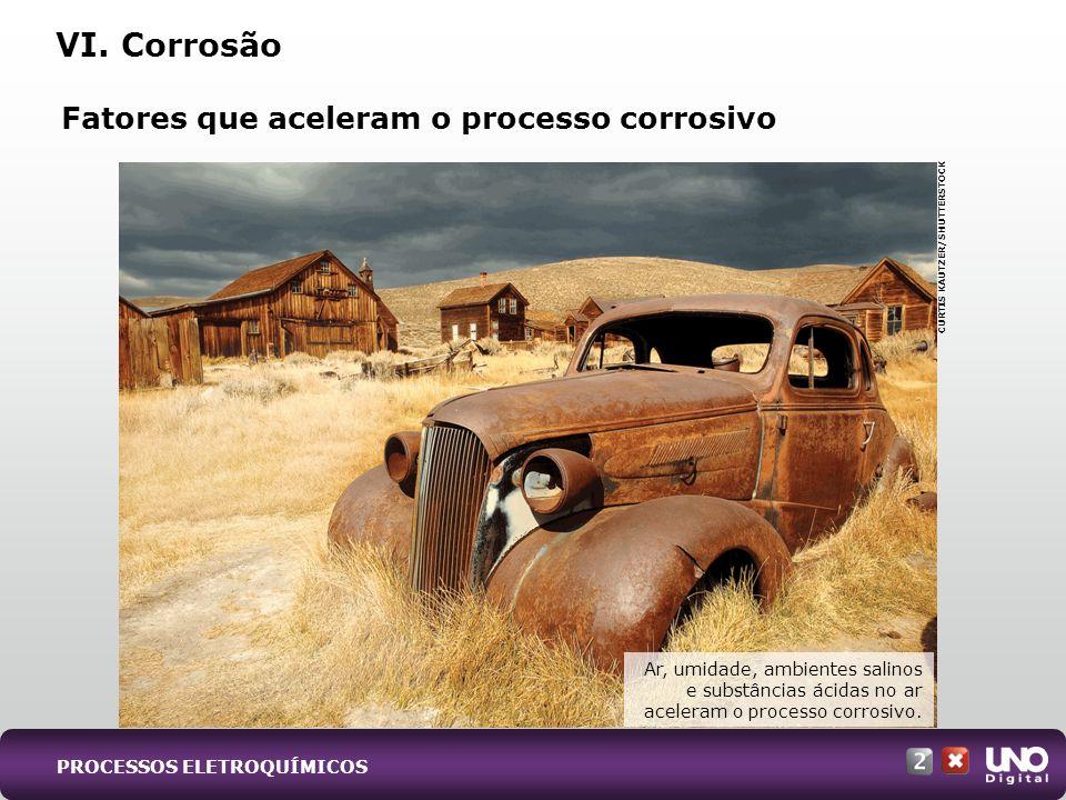 VI. Corrosão Fatores que aceleram o processo corrosivo