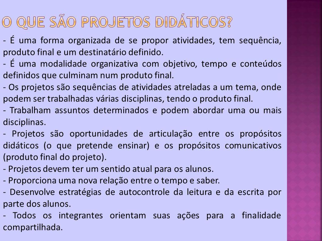 O que são projetos didáticos