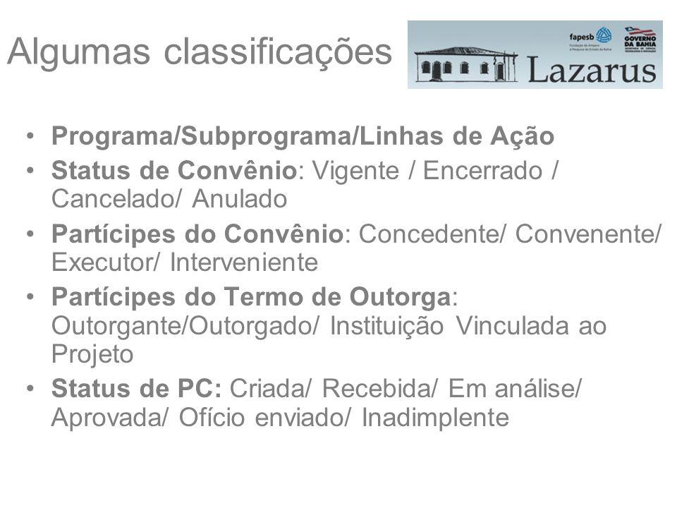 Algumas classificações