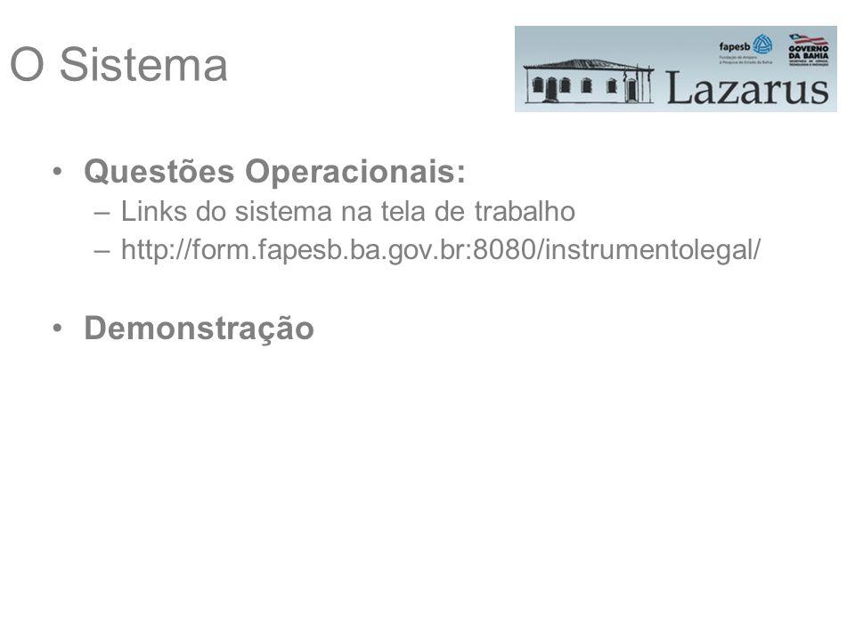 O Sistema Questões Operacionais: Demonstração