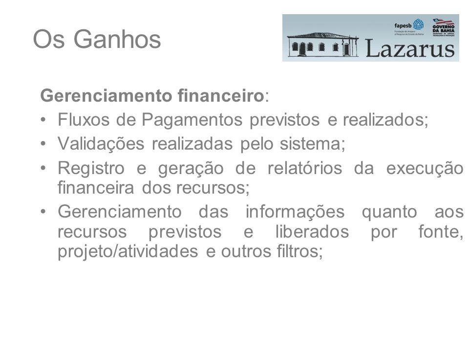 Os Ganhos Gerenciamento financeiro: