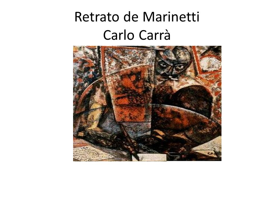 Retrato de Marinetti Carlo Carrà