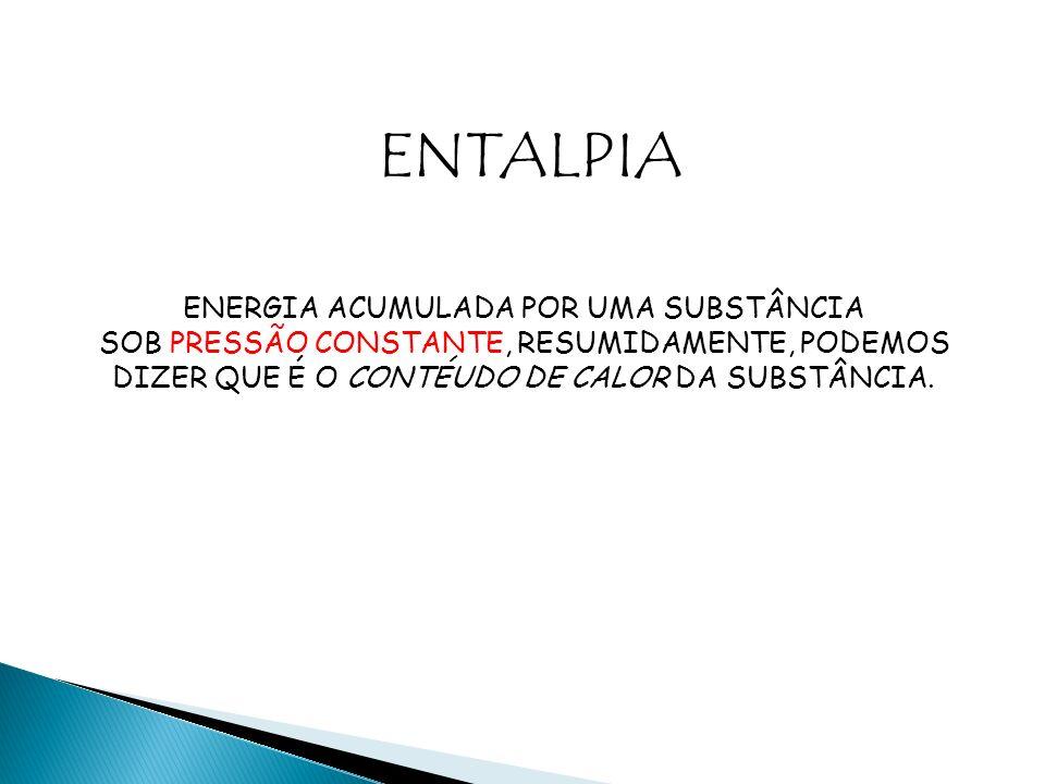 ENTALPIA ENERGIA ACUMULADA POR UMA SUBSTÂNCIA