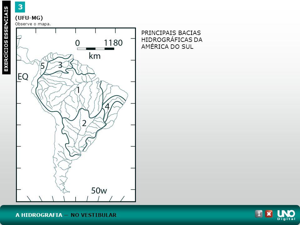 3 PRINCIPAIS BACIAS HIDROGRÁFICAS DA AMÉRICA DO SUL