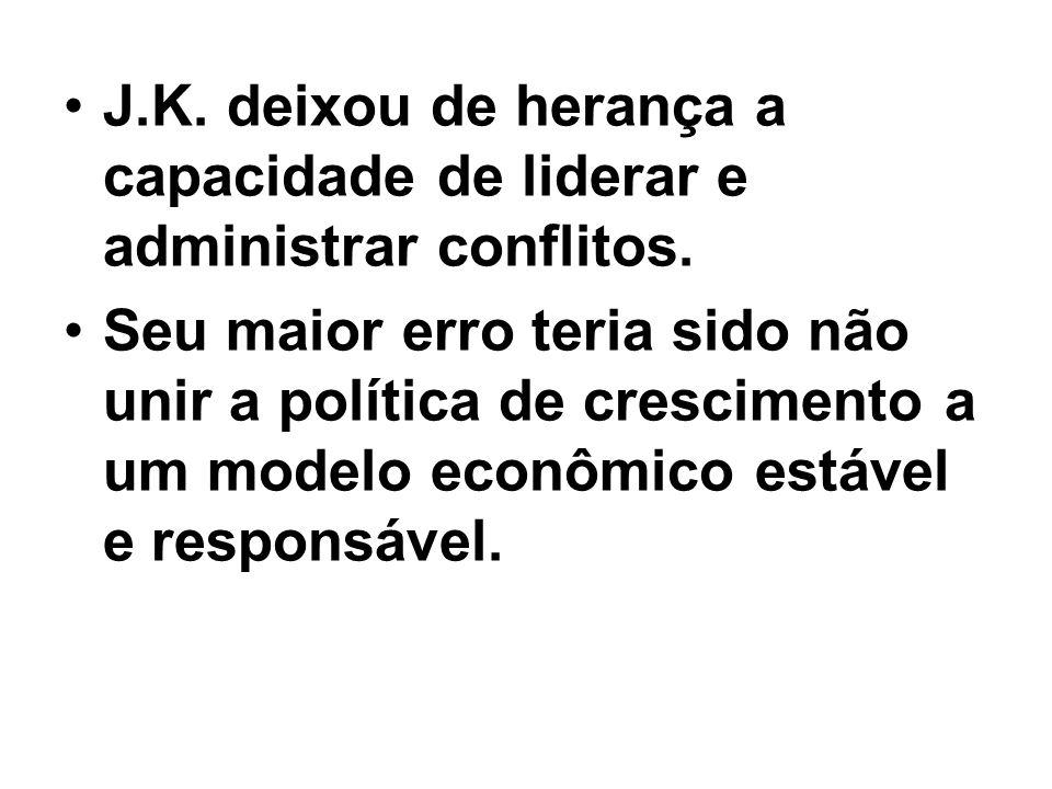 J.K. deixou de herança a capacidade de liderar e administrar conflitos.