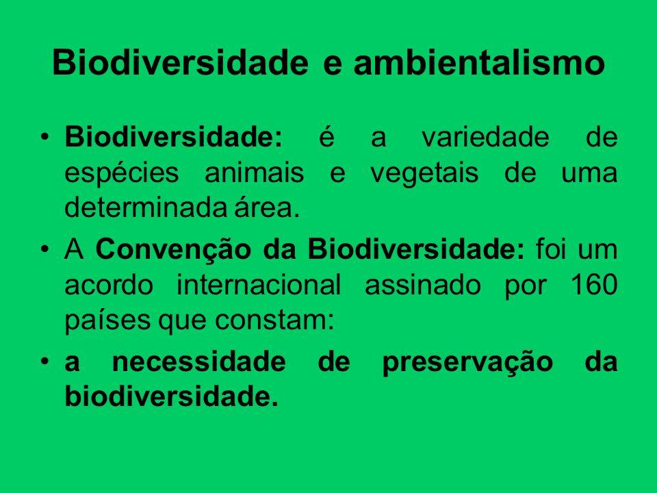 Biodiversidade e ambientalismo