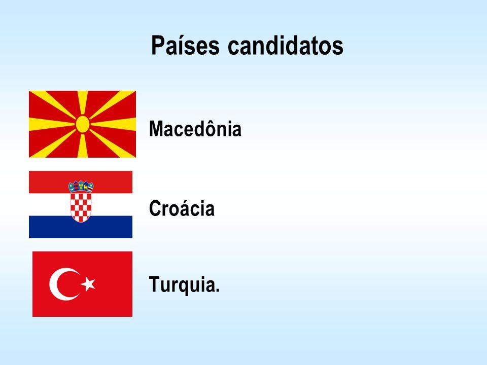Países candidatos Macedônia Croácia Turquia.