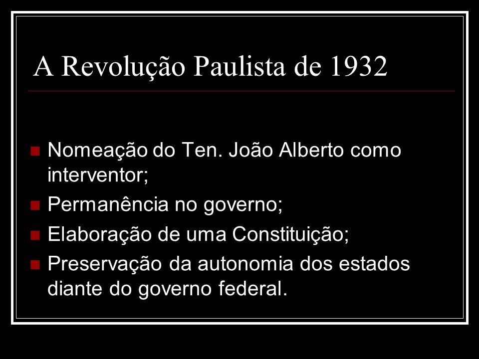 A Revolução Paulista de 1932