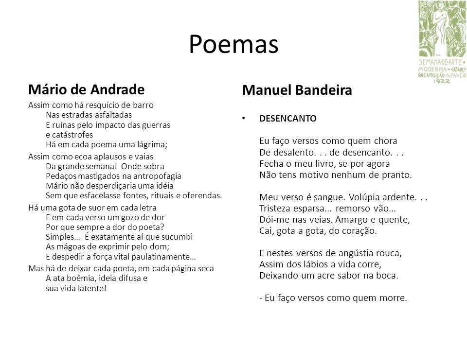 Poemas Mário de Andrade Manuel Bandeira