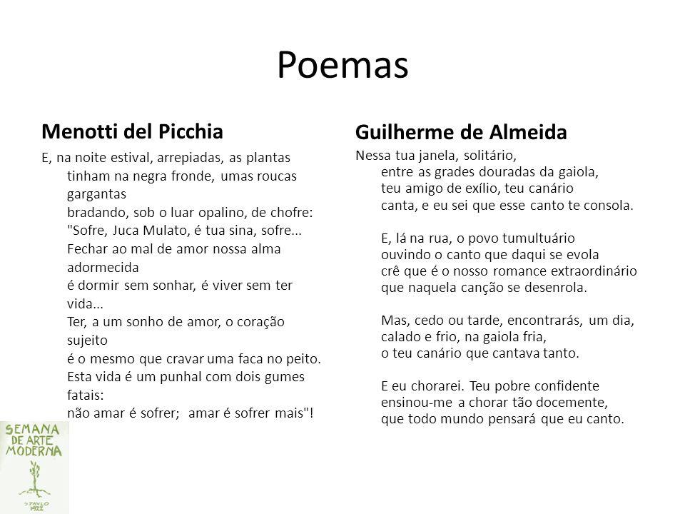 Poemas Menotti del Picchia Guilherme de Almeida