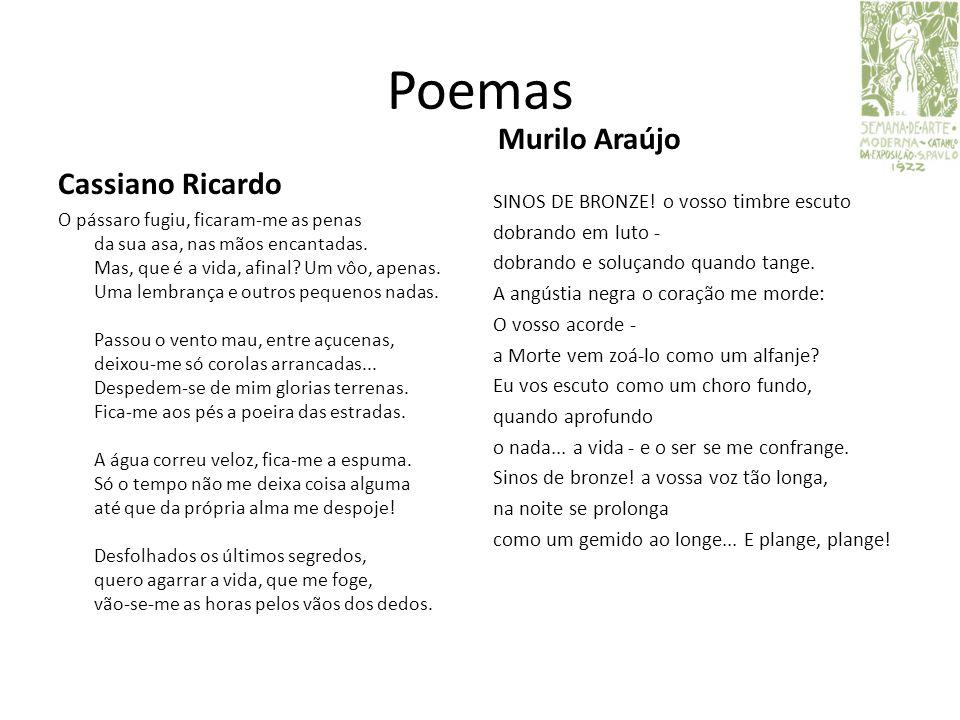 Poemas Murilo Araújo Cassiano Ricardo