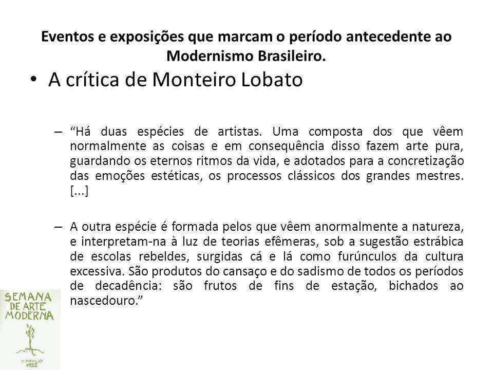 A crítica de Monteiro Lobato