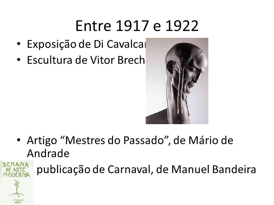 Entre 1917 e 1922 Exposição de Di Cavalcanti