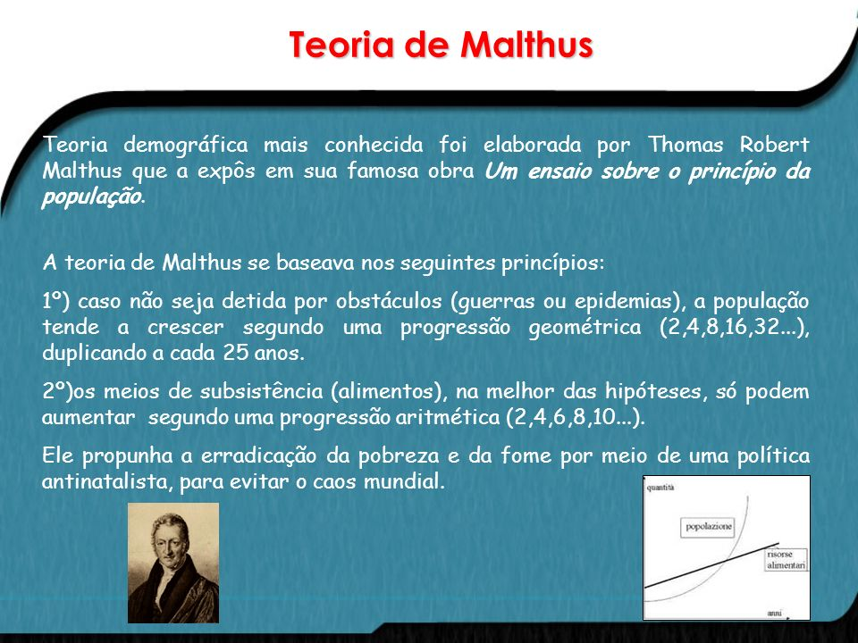 Teoria de Malthus
