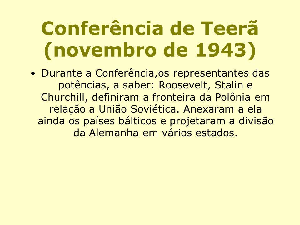 Conferência de Teerã (novembro de 1943)