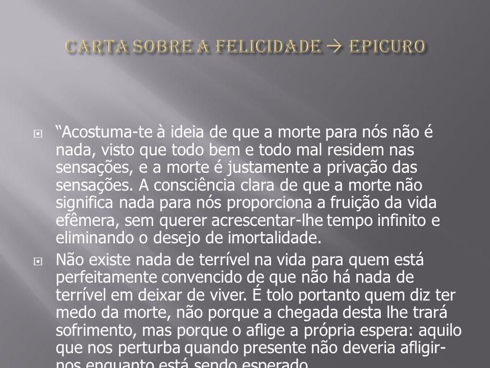 Carta sobre a felicidade  Epicuro