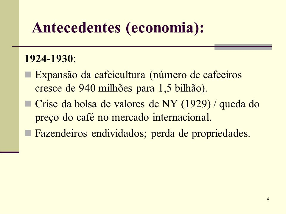 Antecedentes (economia):