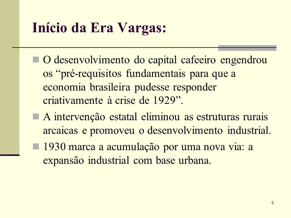 Início da Era Vargas: