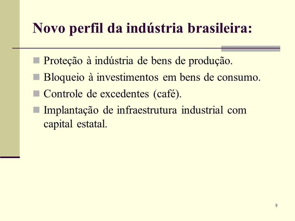 Novo perfil da indústria brasileira: