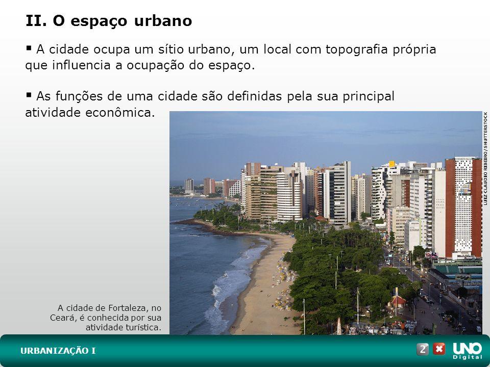 Geo- cad-2-top-6 - 3 ProvaII. O espaço urbano. A cidade ocupa um sítio urbano, um local com topografia própria que influencia a ocupação do espaço.