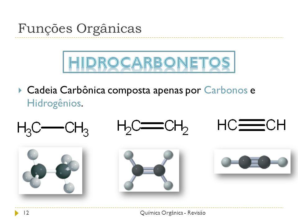 Hidrocarbonetos Funções Orgânicas