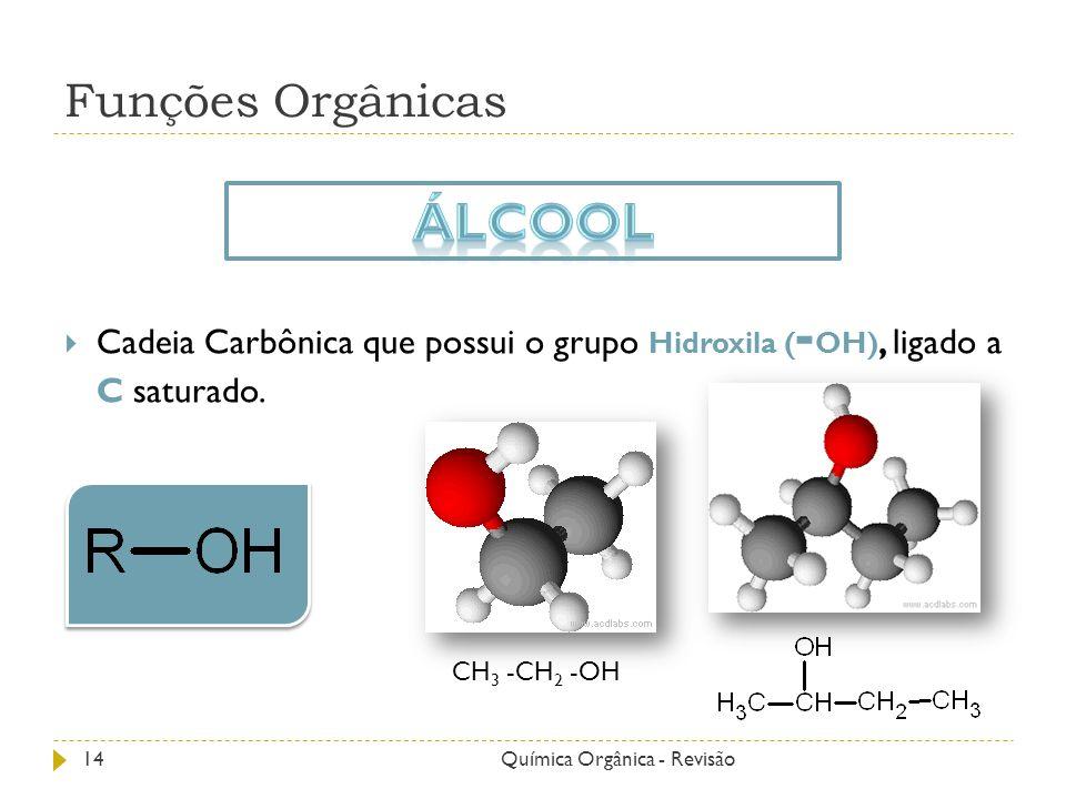 Álcool Funções Orgânicas