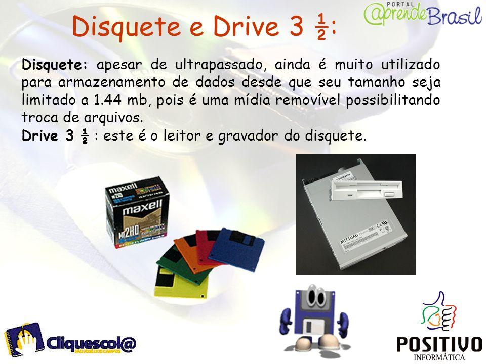 Disquete e Drive 3 ½:
