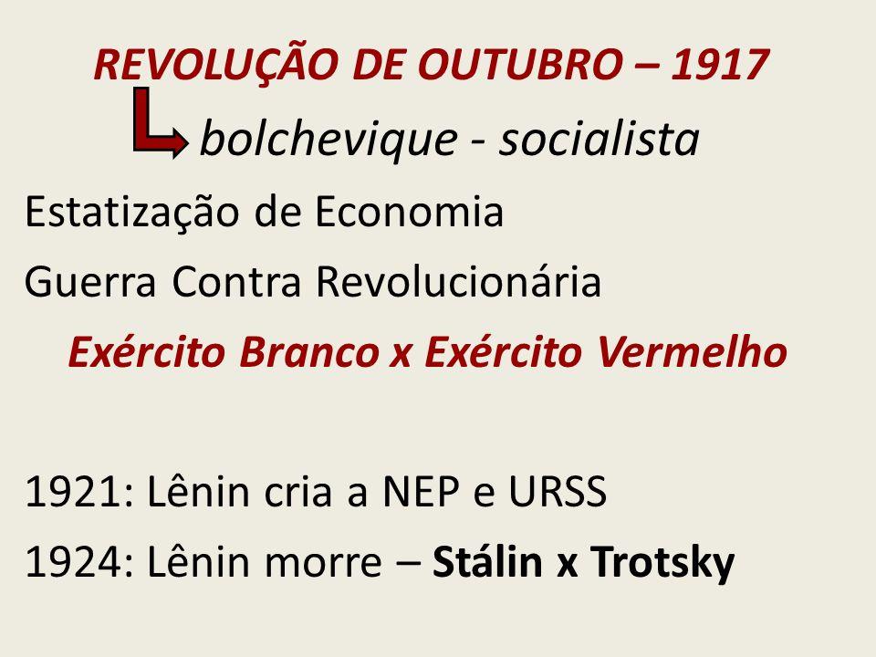 bolchevique - socialista Estatização de Economia