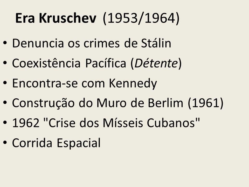 Era Kruschev (1953/1964) Denuncia os crimes de Stálin