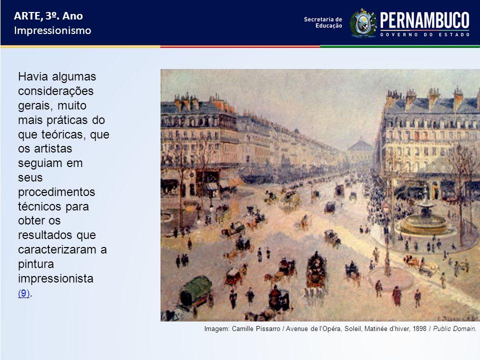 ARTE, 3º. Ano Impressionismo