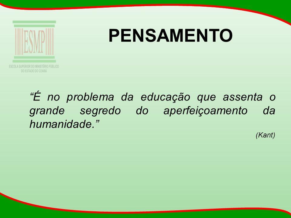 PENSAMENTO É no problema da educação que assenta o grande segredo do aperfeiçoamento da humanidade.