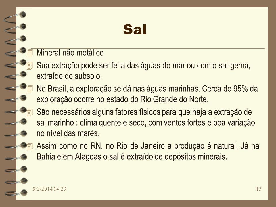 Sal Mineral não metálico