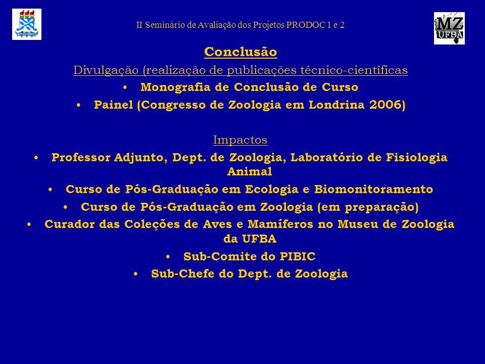 Conclusão Divulgação (realização de publicações técnico-científicas