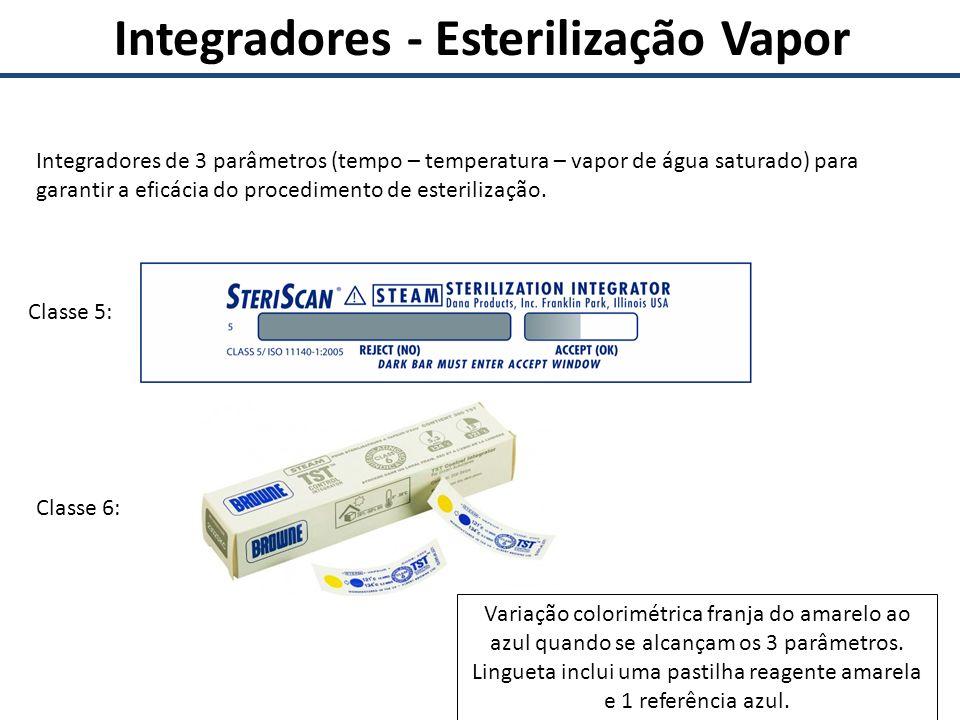 Integradores - Esterilização Vapor