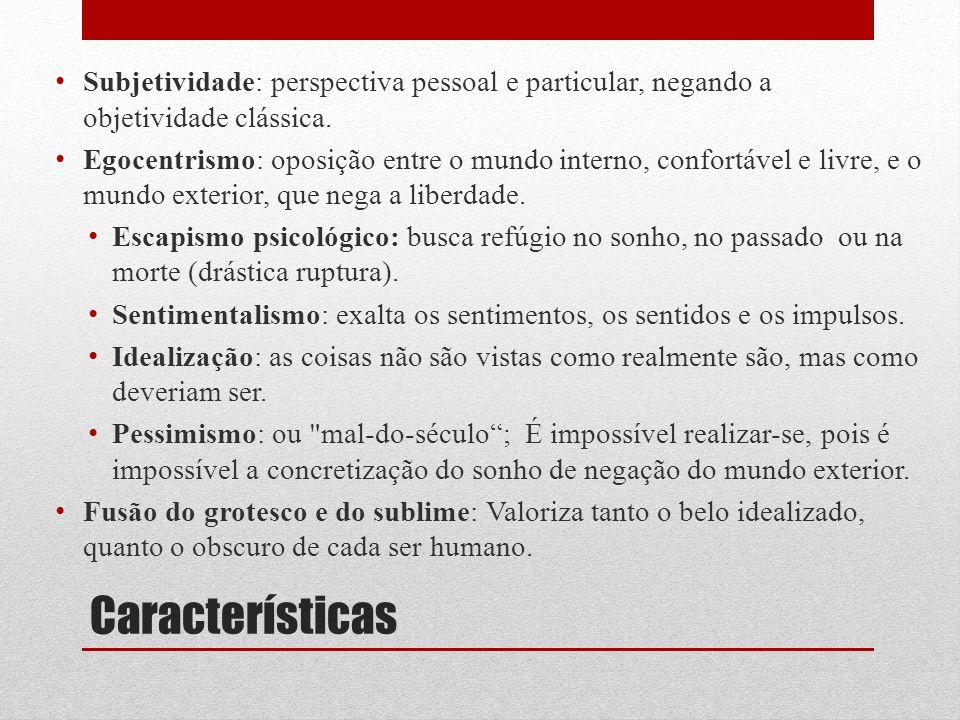 Subjetividade: perspectiva pessoal e particular, negando a objetividade clássica.