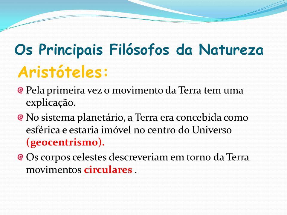 Os Principais Filósofos da Natureza