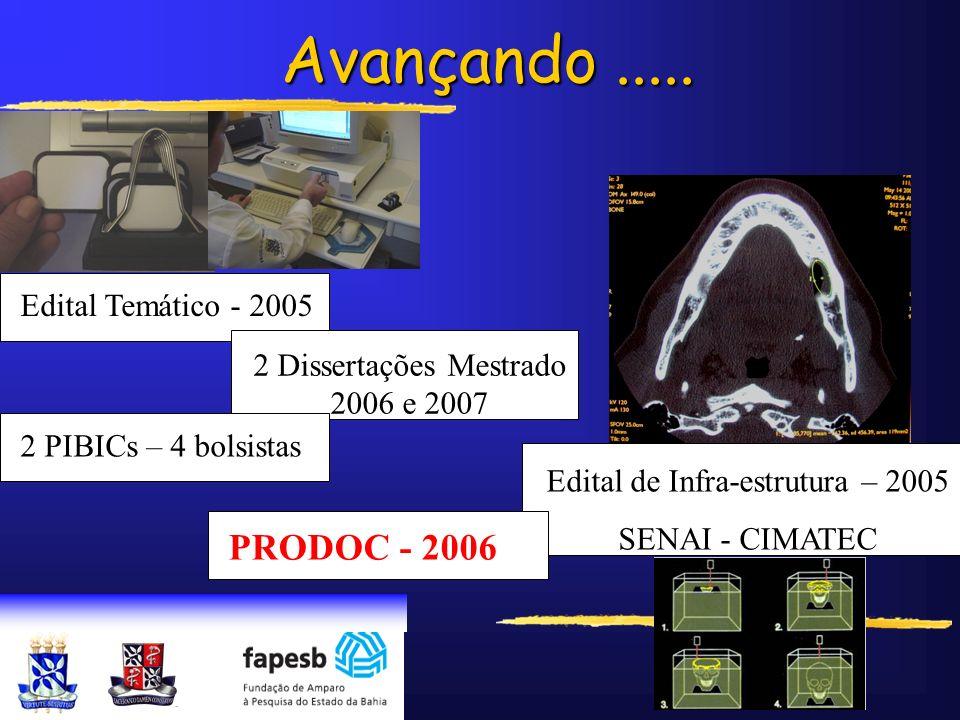 Avançando ..... PRODOC - 2006 Edital Temático - 2005