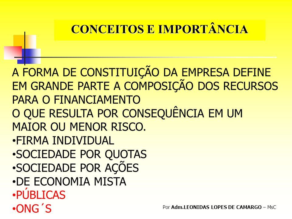 CONCEITOS E IMPORTÂNCIA