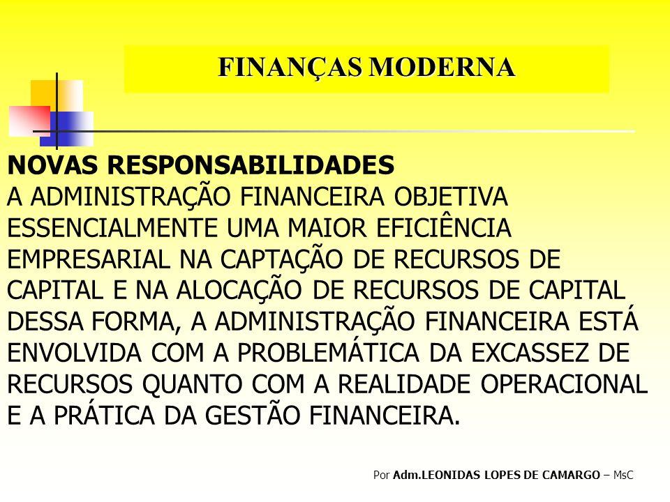 FINANÇAS MODERNA NOVAS RESPONSABILIDADES
