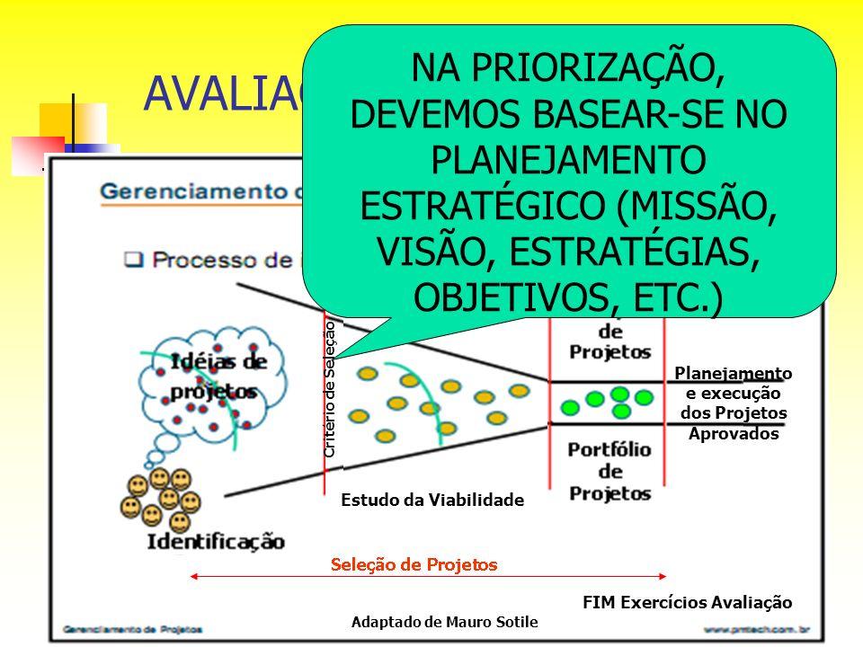 Planejamento e execução dos Projetos Aprovados