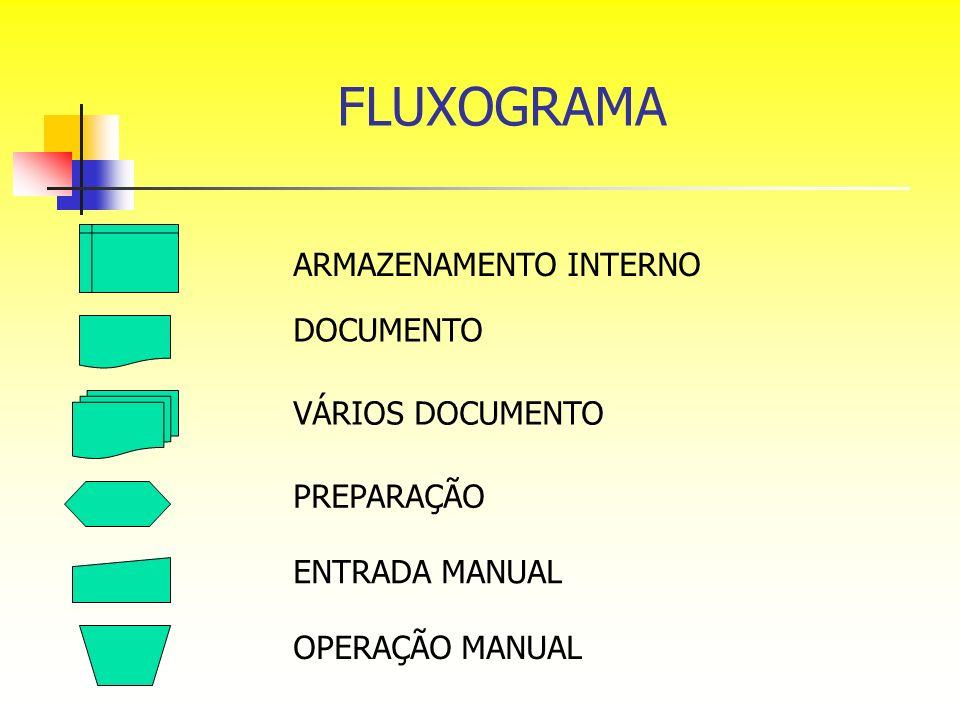 FLUXOGRAMA ARMAZENAMENTO INTERNO DOCUMENTO VÁRIOS DOCUMENTO PREPARAÇÃO