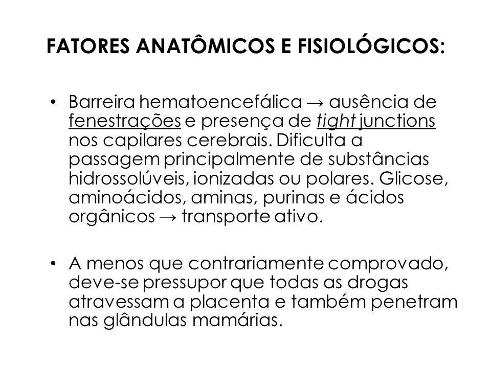 FATORES ANATÔMICOS E FISIOLÓGICOS: