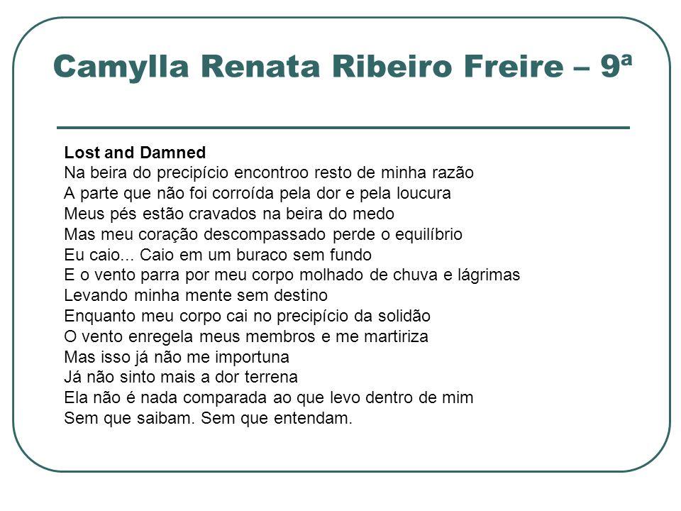 Camylla Renata Ribeiro Freire – 9ª