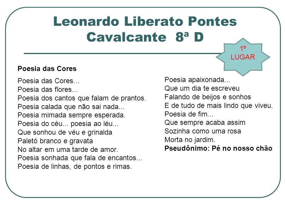 Leonardo Liberato Pontes Cavalcante 8ª D