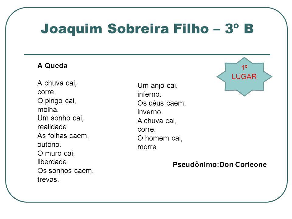 Joaquim Sobreira Filho – 3º B