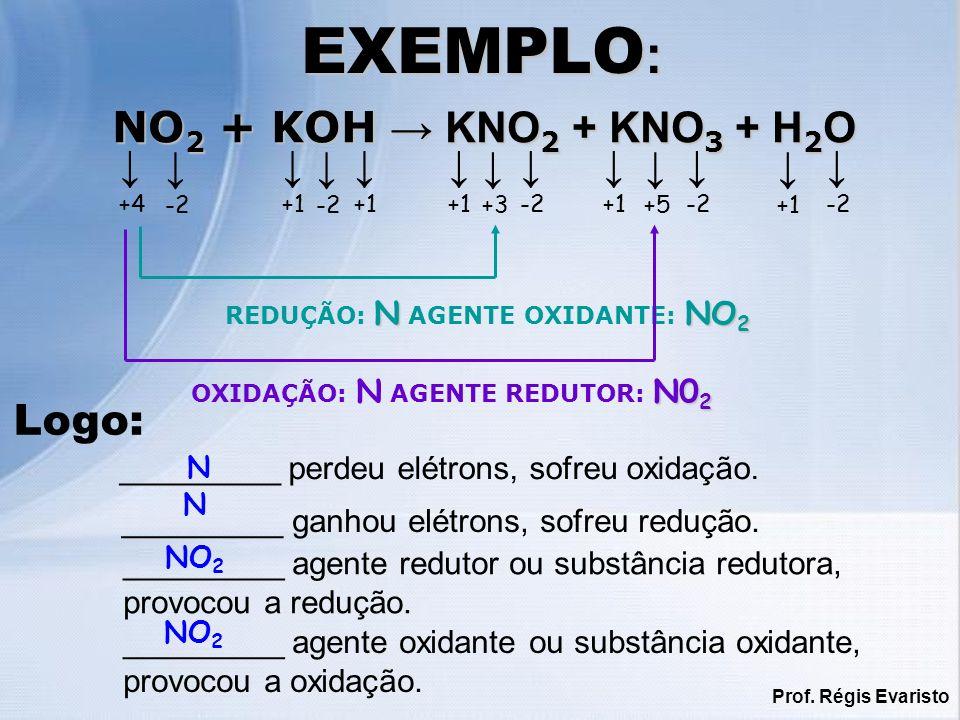 EXEMPLO: NO2 + KOH → KNO2 + KNO3 + H2O ↓ ↓ ↓ ↓ ↓ ↓ ↓ ↓ ↓ ↓ ↓ ↓ ↓ Logo: